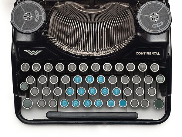 First Draft Cliche Typewriter Image AP Hilton