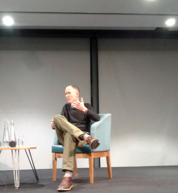 William Gibson on stage at the Bristol Festival Of Ideas 03/02/2020